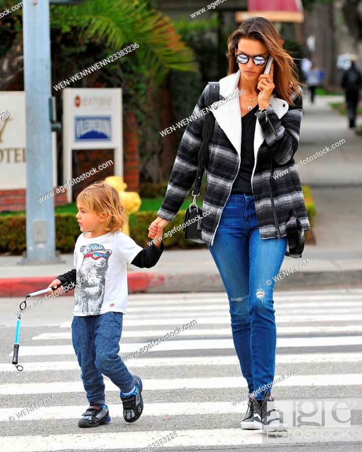 Alessandra Ambrosio Walking With Her Son Noah Phoenix Ambrosio Mazur