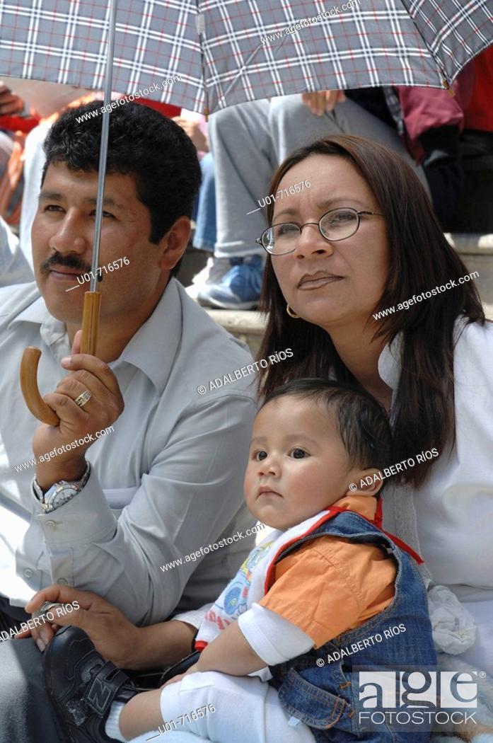 Stock Photo: Family. Zacatecas. Mexico.