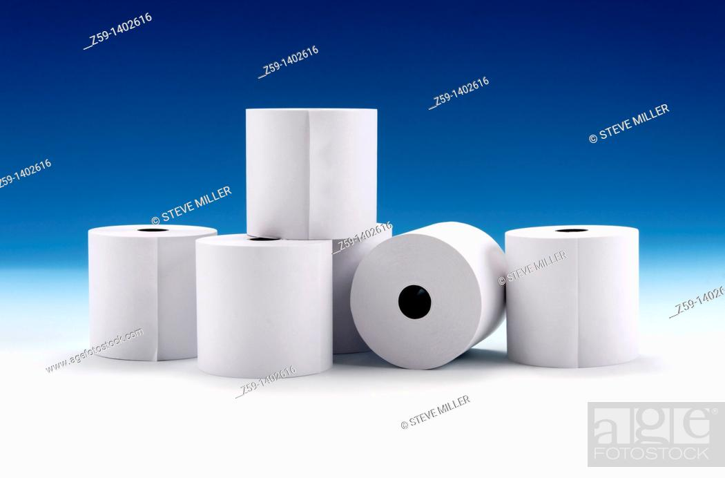 Stock Photo: paper rolls for printers.