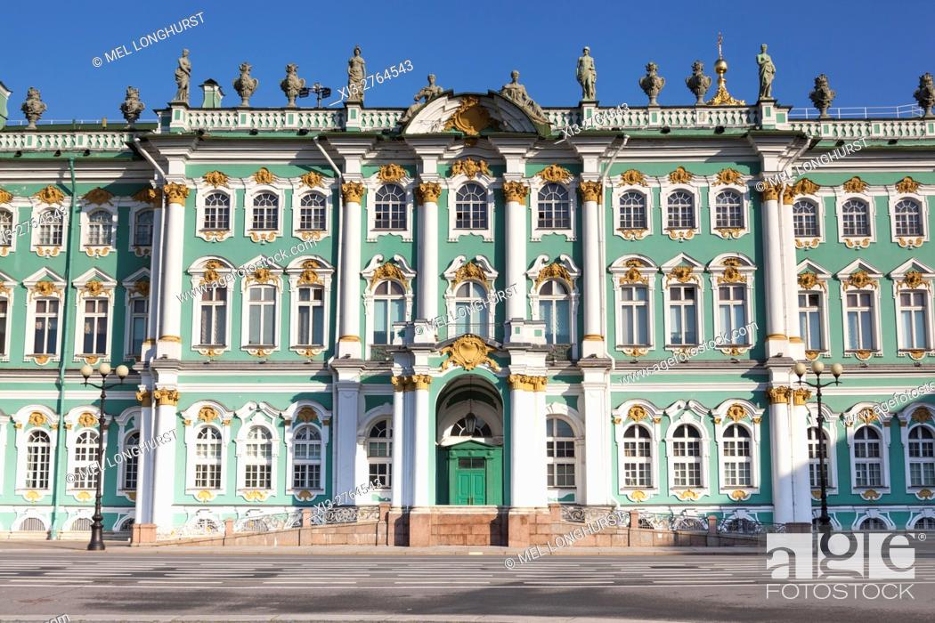 Stock Photo: The Winter Palace, Hermitage Museum, from Palace Square, St Petersburg, Russia.