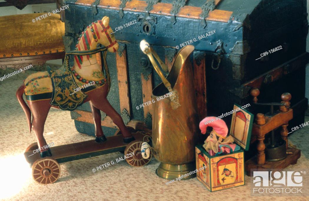 Stock Photo: Antique toys.