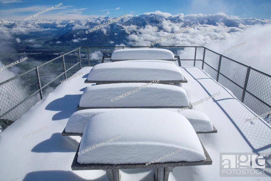 Imagen: Alpstein, Staubern, mountain, mountains, hut, house, alpine cabin, snow, winter, canton, Appenzell, Innerroden, SG, canton St.