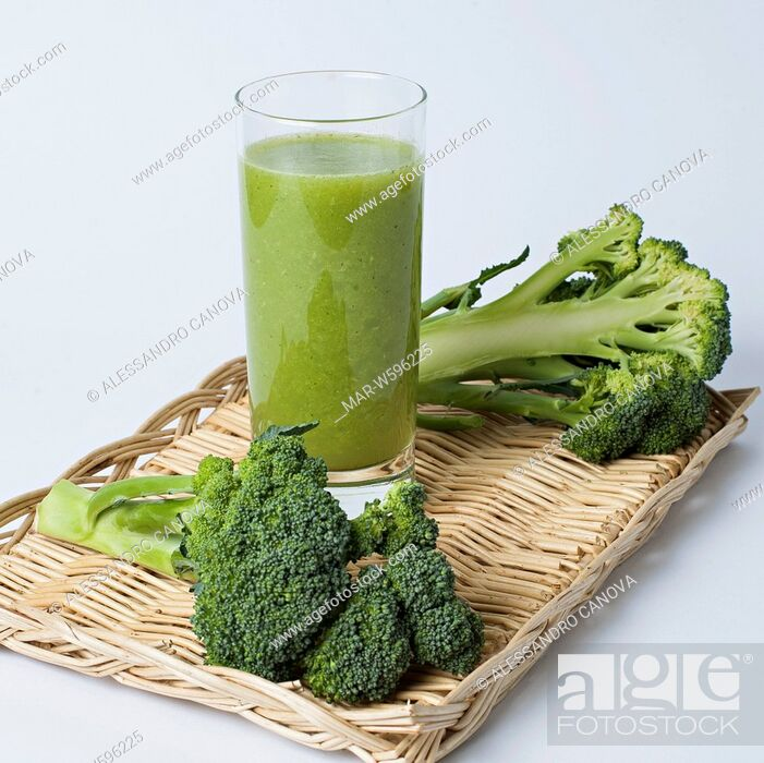 Stock Photo: broccoli smoothie.