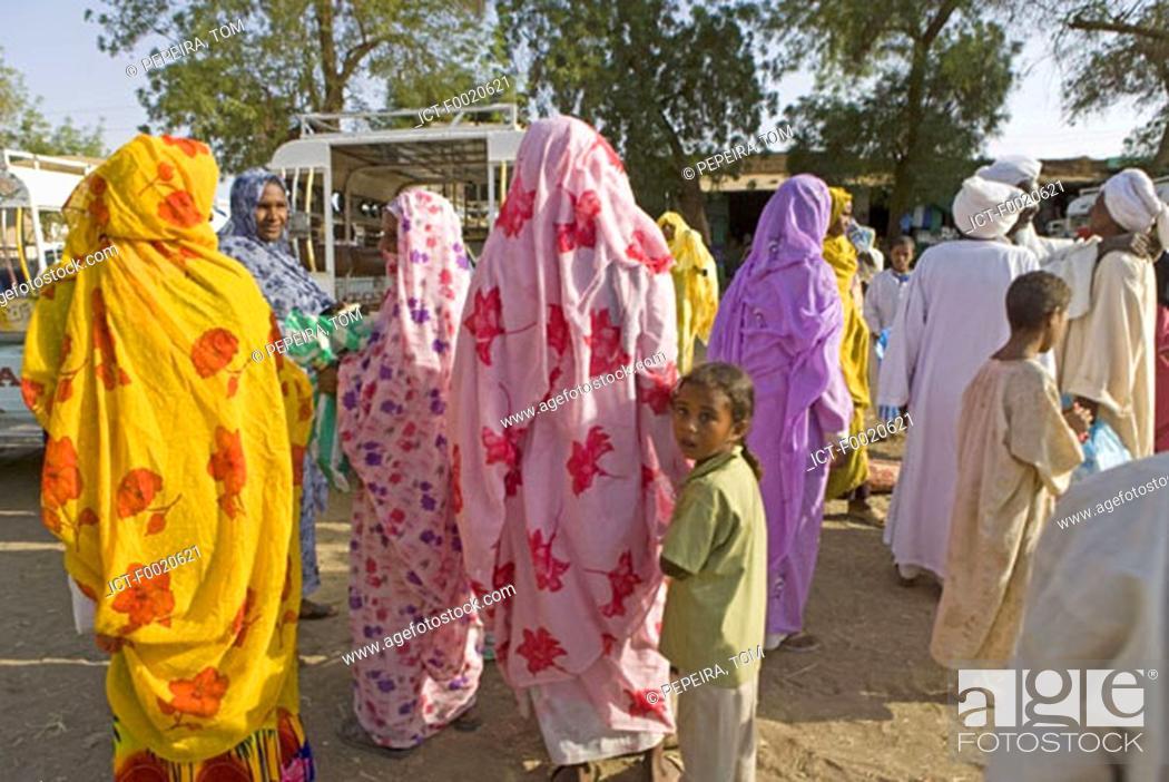 Stock Photo: Sudan, Bayuda desert, Dongola, at departure place of buses.