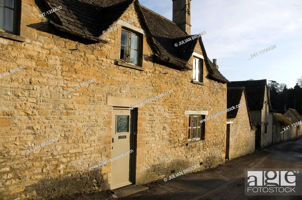 Stock Photo: a cotswold cottage in Bibury, Oxfordshire.