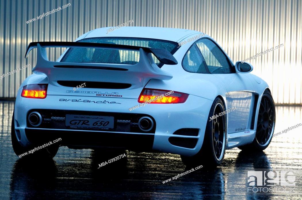 Porsche Gemballa Knows Backview Rain Twilight Series Vehicle