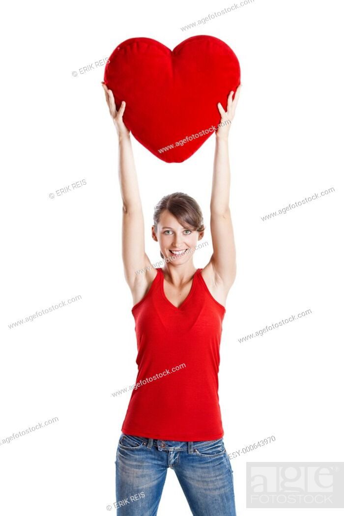 Stock Photo: Valentine woman.
