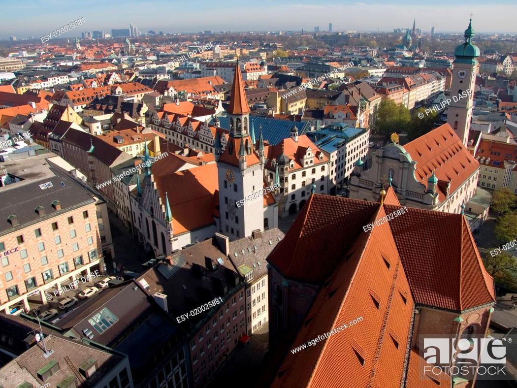Stock Photo: München Altstadt.