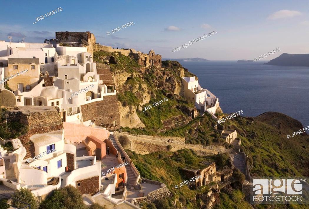 Stock Photo: Oia. Santorini Island. Cyclades Islands. Greece.
