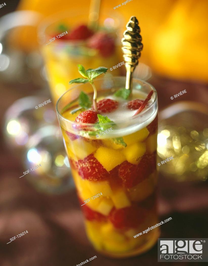 Stock Photo: Fruit soup.