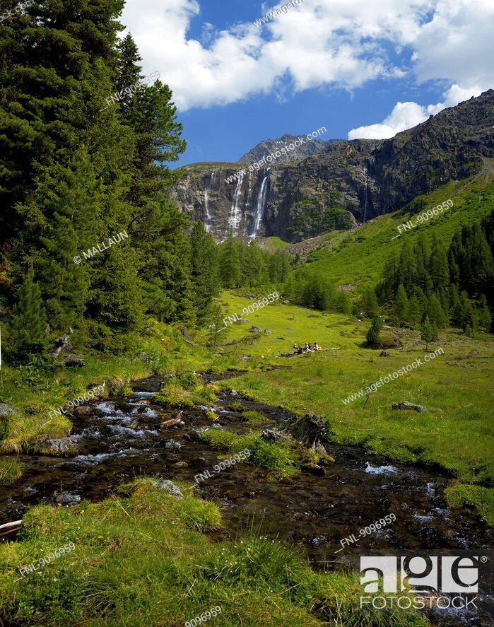 Stock Photo: Renk Falls, Oetztal Alps, Tyrol, Austria.