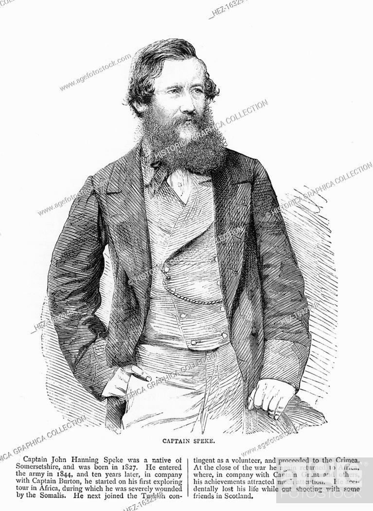 Portrait of John Hanning Speke, British explorer, 19th