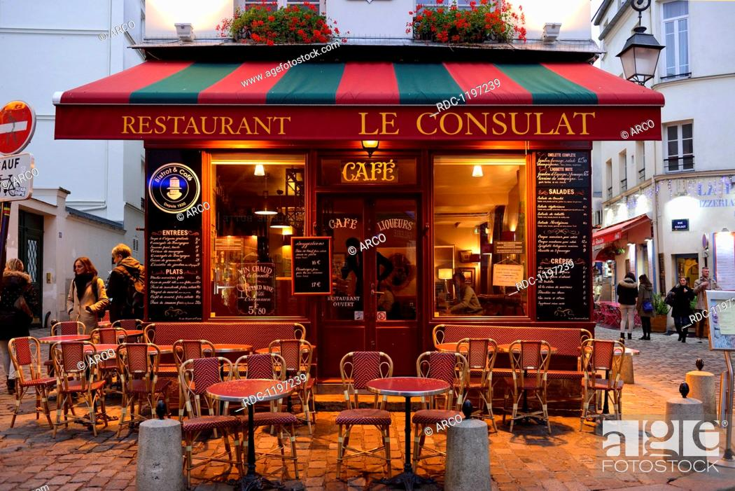 Restaurant Le Consulat Montmartre Paris France Stock Photo Picture And Rights Managed Image Pic Rdc 1197239 Agefotostock