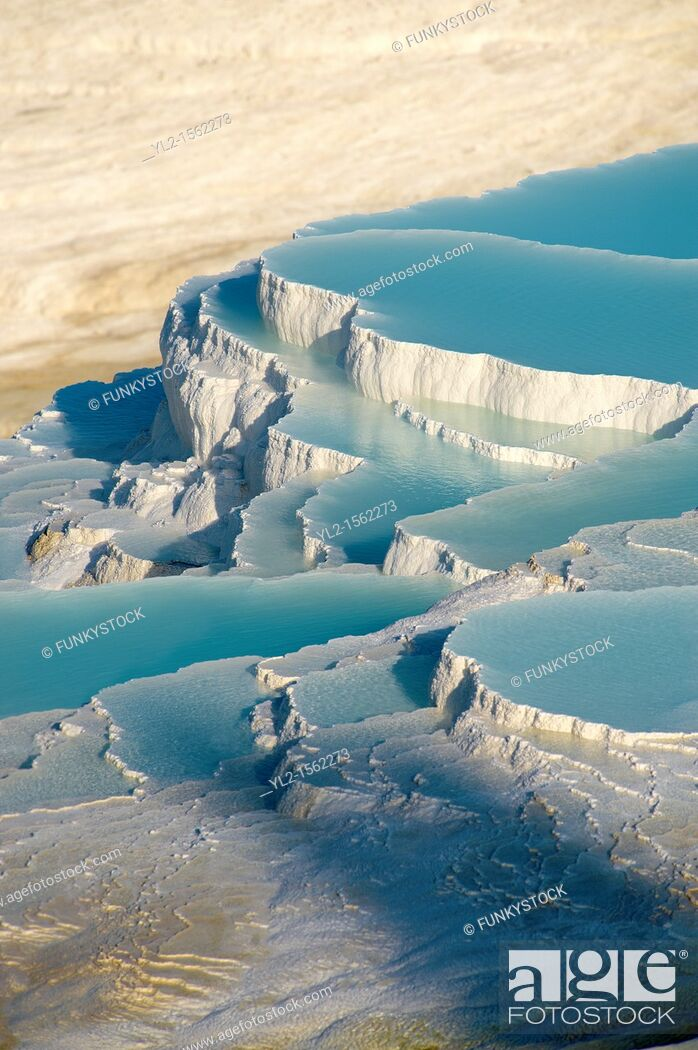 Stock Photo: Photo & Image of Pamukkale Travetine Terrace, Turkey  Images of the white Calcium carbonate rock formations  Buy as stock photos or as photo art prints  4.
