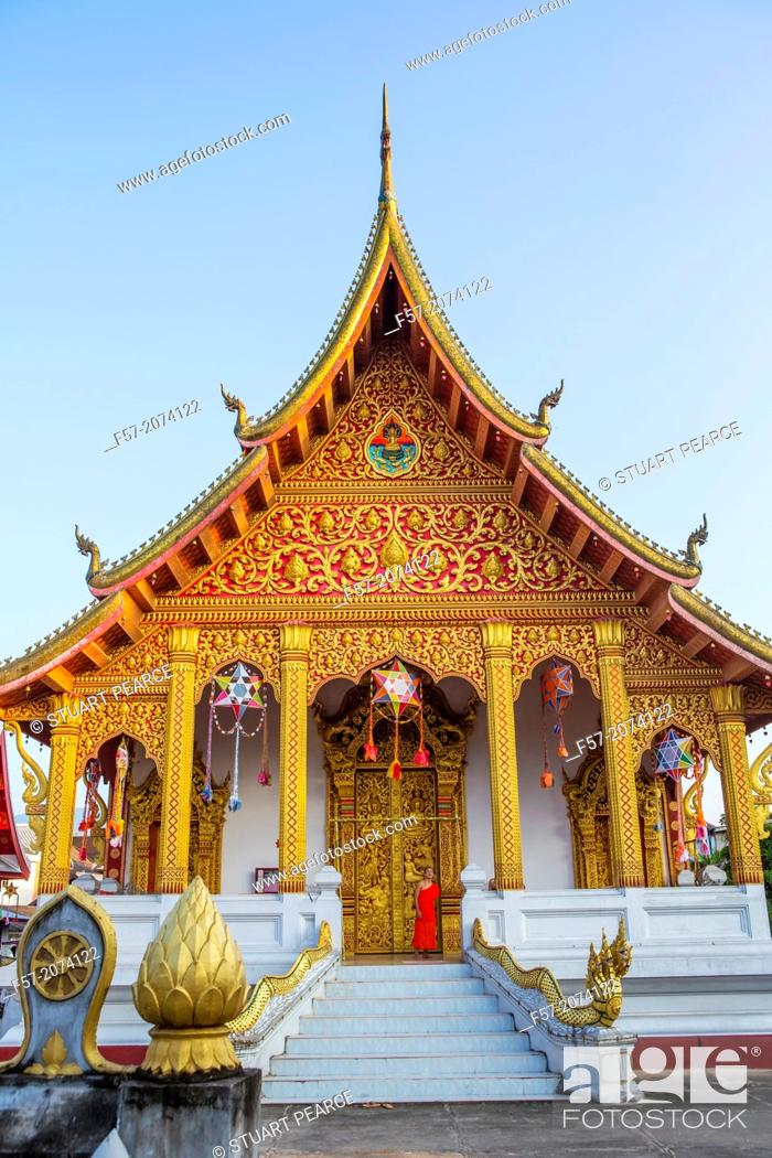 Stock Photo: Wat Nong Sikhounmuang in Luang Prabang, Laos.