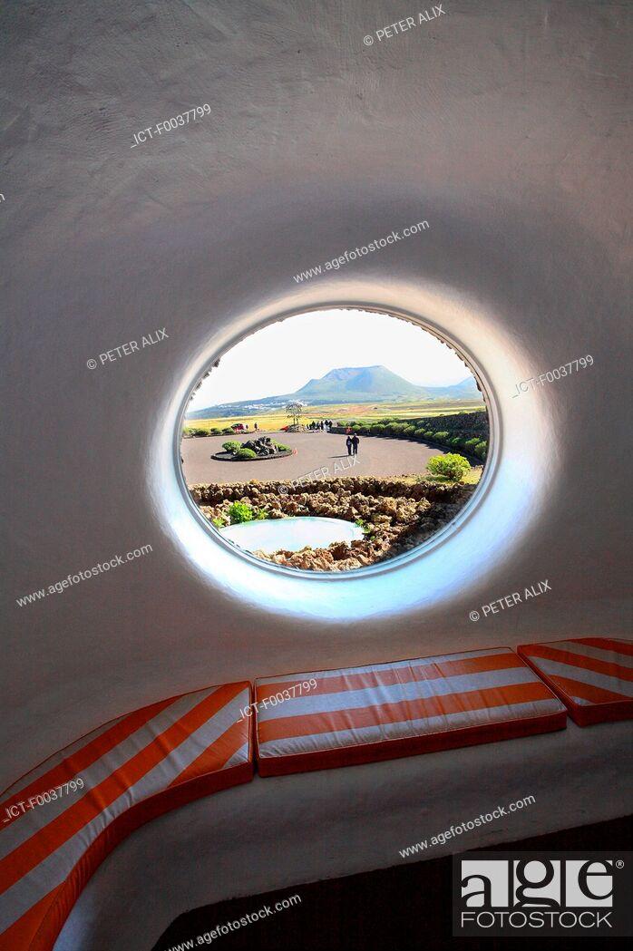 Stock Photo: Spain, Canary islands, Lanzarote, Mirador del Rio.