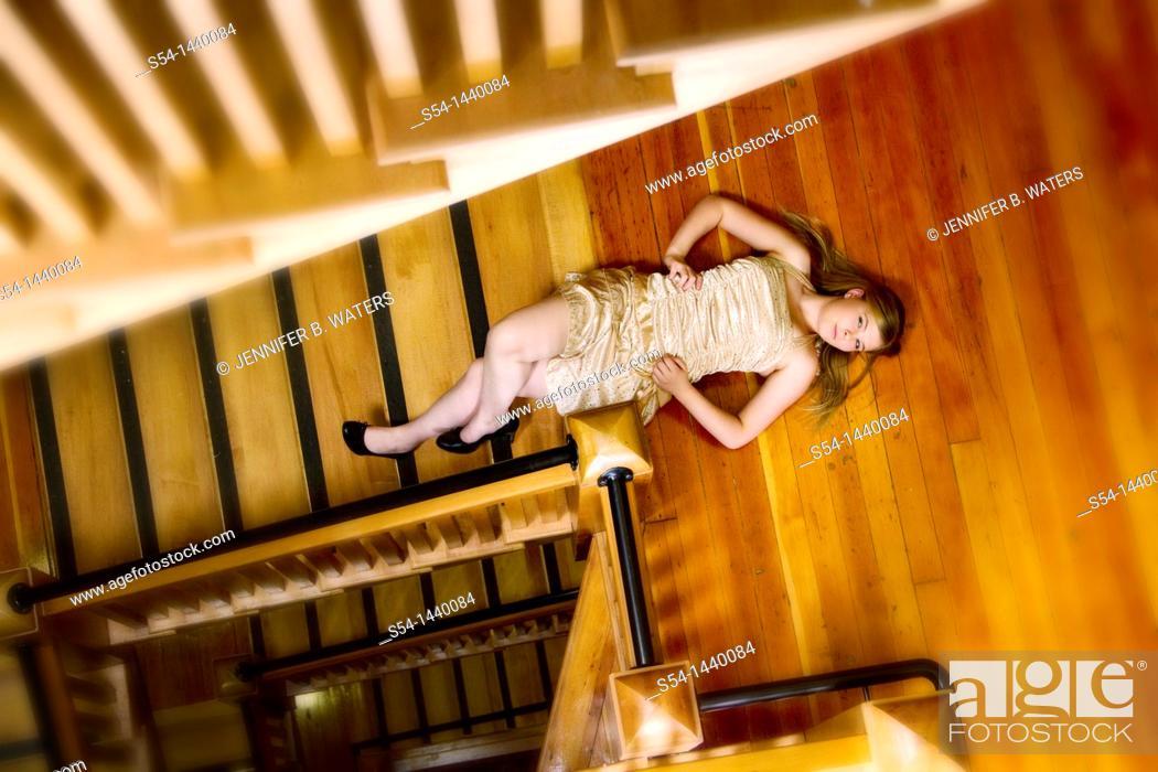Stock Photo: A teen girl indoors.