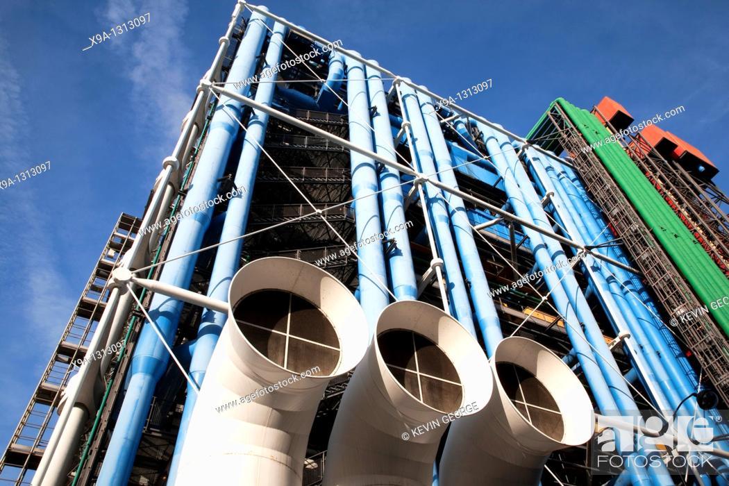 Stock Photo: Georges Pompidou Centre in Paris, France.