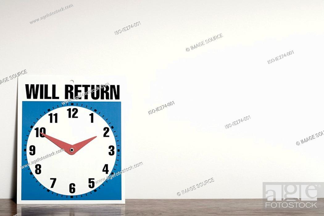 Stock Photo: Clock sign.