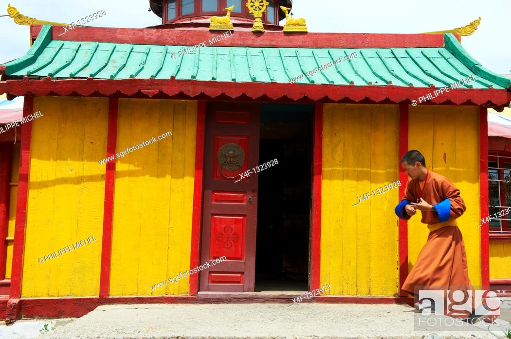 Stock Photo: Mongolia, Ulan Bator, Dashchoilon Khiid monastery.