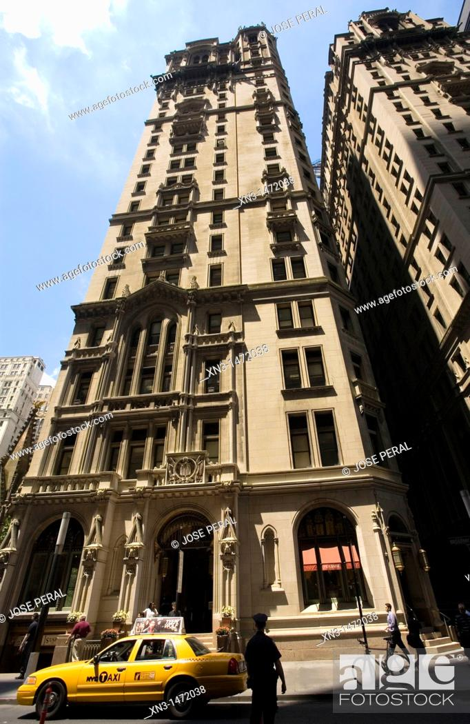 Stock Photo: Trinity Building, Wall Street, Financial District, Lower Manhattan, Downtown, Manhattan, New York City, New York, USA.