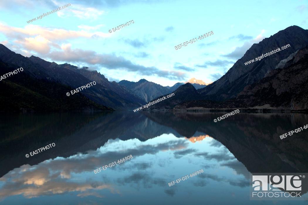 Stock Photo: Ranwu Lake in Tibet.