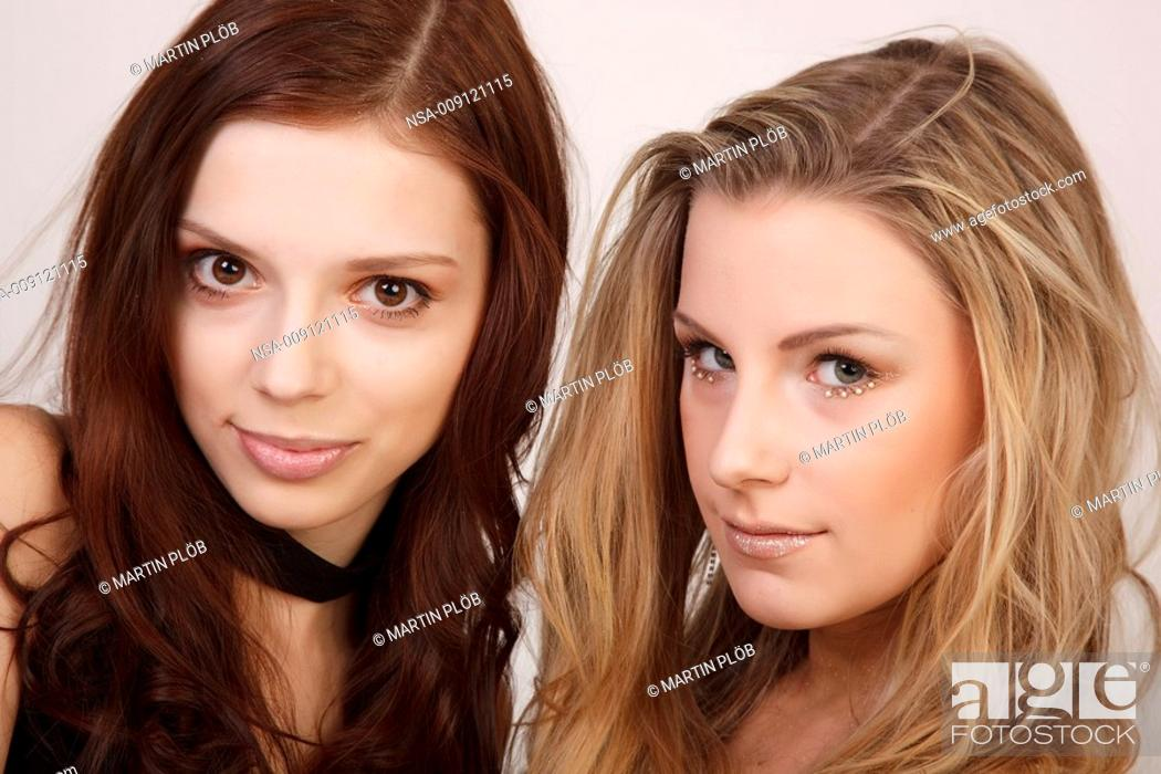 Stock Photo: two young women.