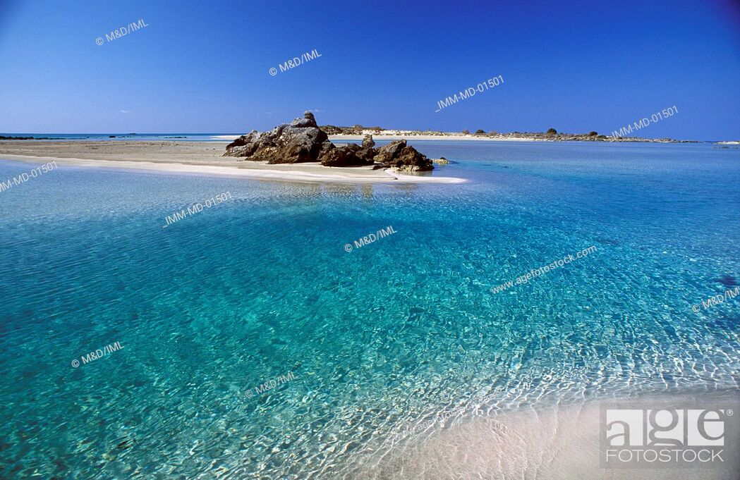 Stock Photo: Beach Elafonissi, Hania, Crete, Greece, Europe.