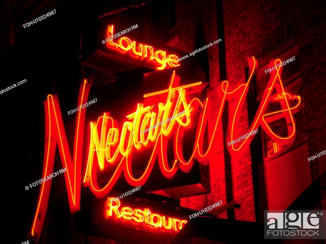 Burlington Vt Vermont Neon Sign Nectars Lounge And Restaurant
