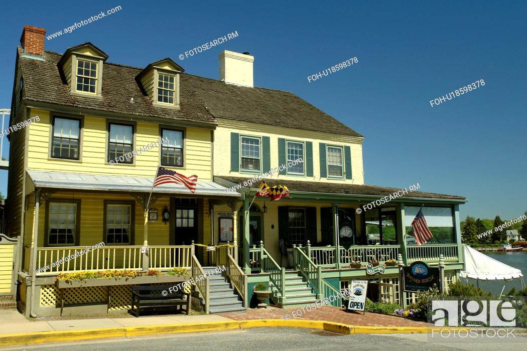 Stock Photo Chesapeake City Md Maryland Bay Historic Village Bayard House Restaurant
