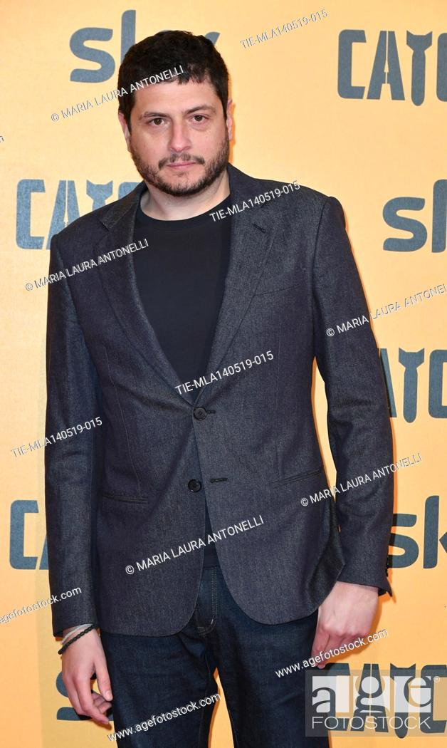 Photo de stock: Claudio Giovannesi during the Red carpet for the Premiere of film tv Catch-22, Rome, ITALY-13-05-2019.