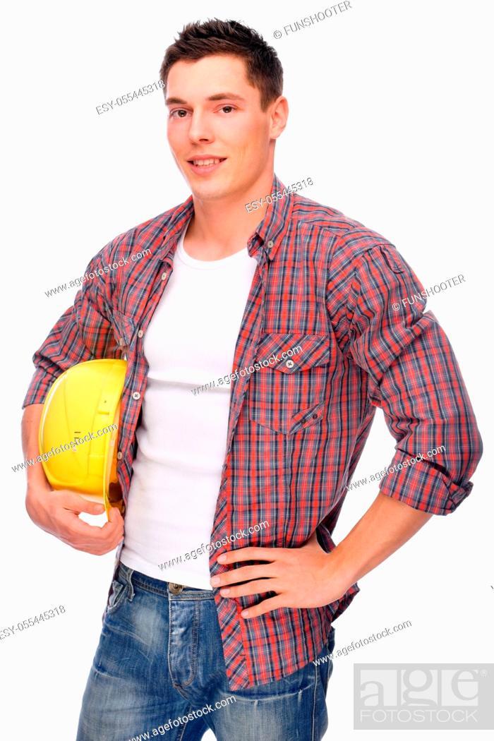 Stock Photo: construction worker, craftsman, worker.