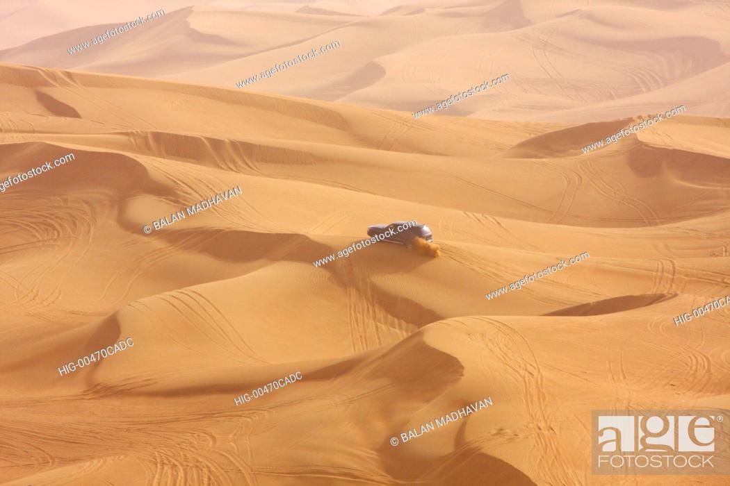 Stock Photo: DESERT SAFARI IN DUBAI.