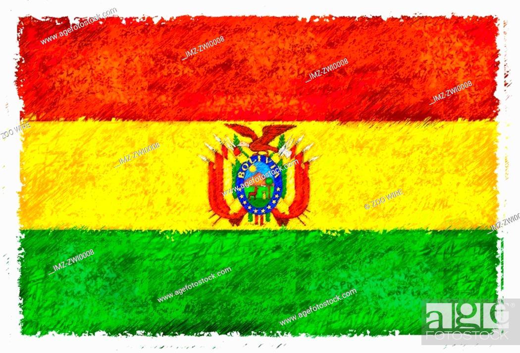 Stock Photo: Flag of Bolivia.