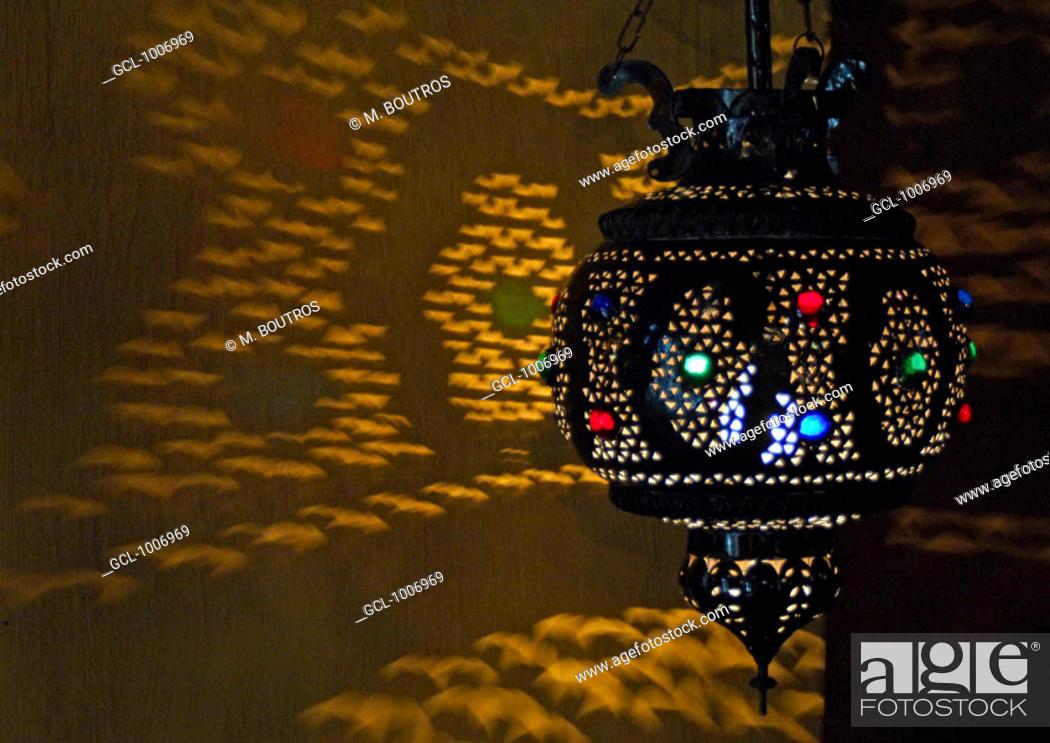 Stock Photo: Traditional Arabic lamp.