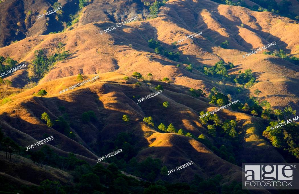 Stock Photo: Red lands of Kalinga province, The Cordillera, North Luzon, Philippines.