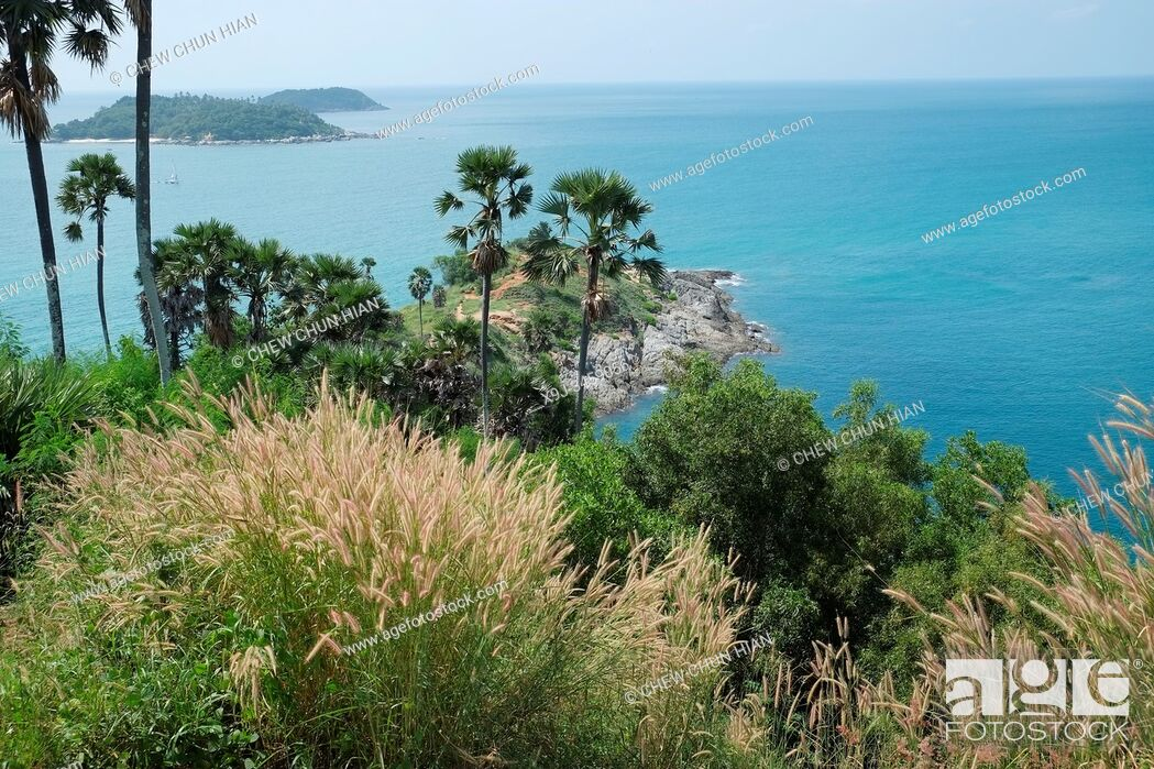 Stock Photo: Promthep Cape, Phuket End Point, Phuket, Thailand.