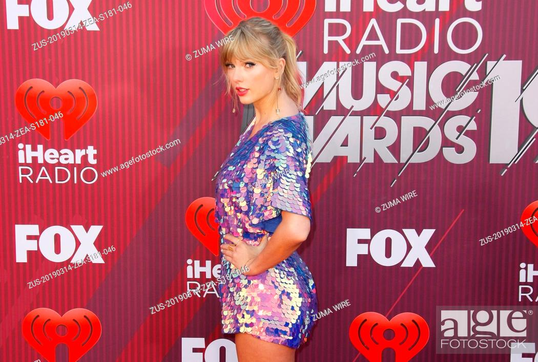 Stock Photo: March 14, 2019 - Los Angeles, CA, USA - LOS ANGELES, CALIFORNIA - MARCH 14: Taylor Swift attends the 2019 iHeartRadio Music Awards which broadcasted live on FOX.