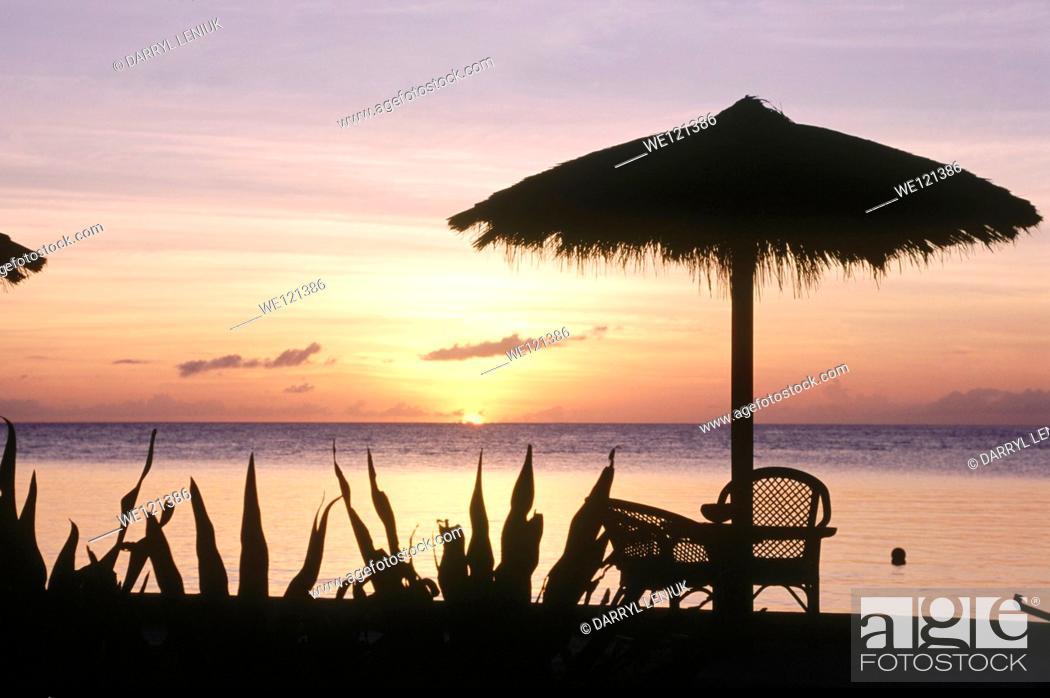 Stock Photo: Sunset at Wakatobi resort  Wakatobi  Indonesia.