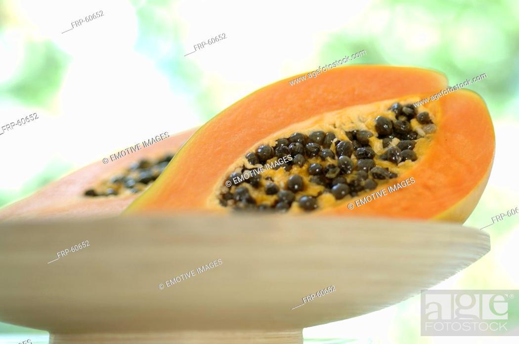 Stock Photo: Papaya.