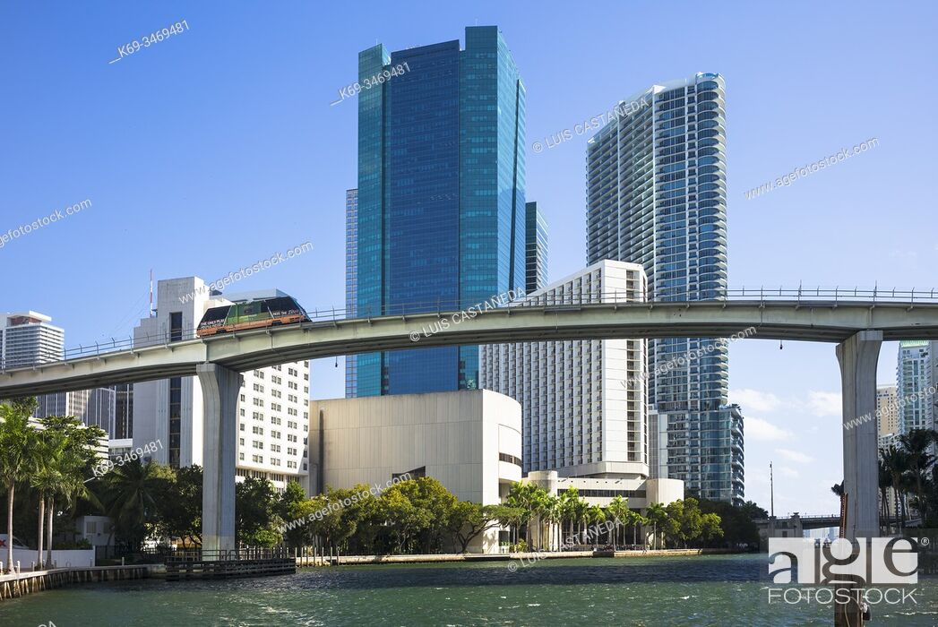 Stock Photo: Miami River. Downtown Miami. Florida. USA.