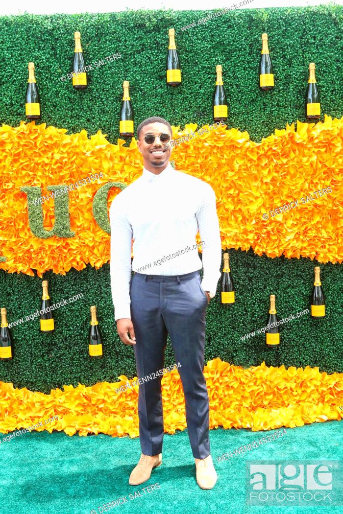 b5884b0a5e4a Stock Photo - 9th Annual Veuve Clicquot Polo Classic at Liberty State Park  Featuring  Michael B. Jordan Where  Liberty State Park