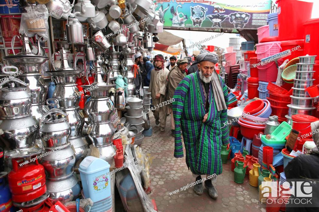 Stock Photo: Daily life on the market in Kunduz.