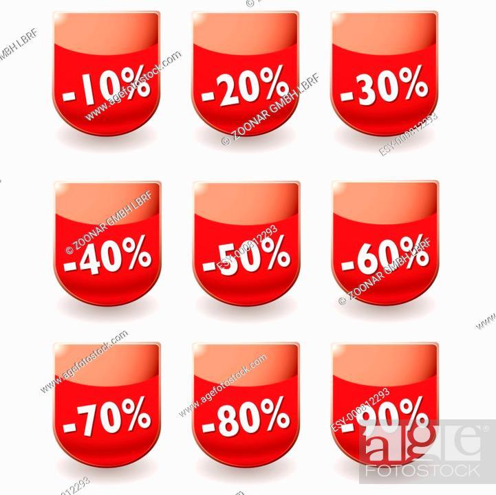 Stock Photo: discount shop shield.
