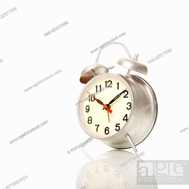 Stock Photo: Retro style alarm clock.