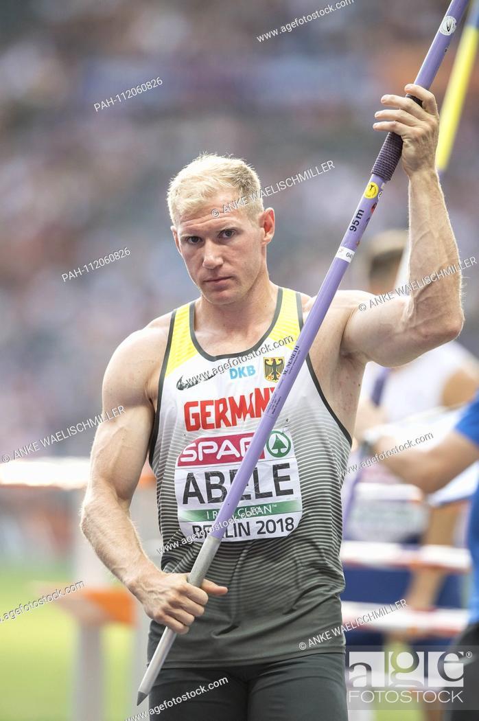 Stock Photo: Arthur ABELE, Germany, Decathlon javelin, on 08.08.2018 European Athletics Championships 2018 in Berlin / Germany from 06.08. - 12.08.2018.