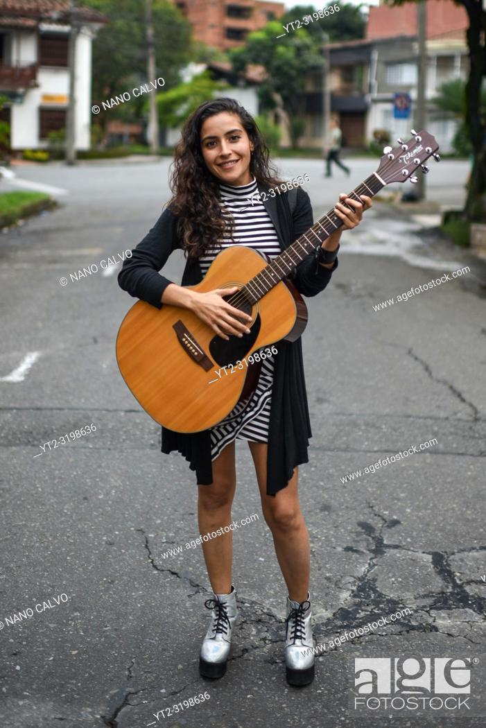 Stock Photo: La Lovo, singer-songwriter from Medellin, Colombia.
