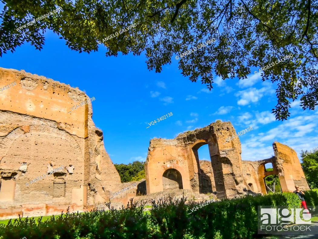 Stock Photo: Ruins of the Baths of Caracalla (Terme di Caracalla), Thermae Antoninianae , one of the most important baths of Rome at the time of the Roman Empire, Rome.