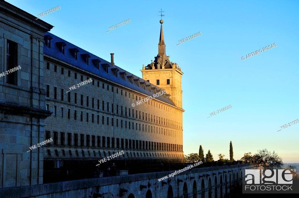 Stock Photo: Monastery. San Lorenzo de El Escorial, Madrid. Spain.