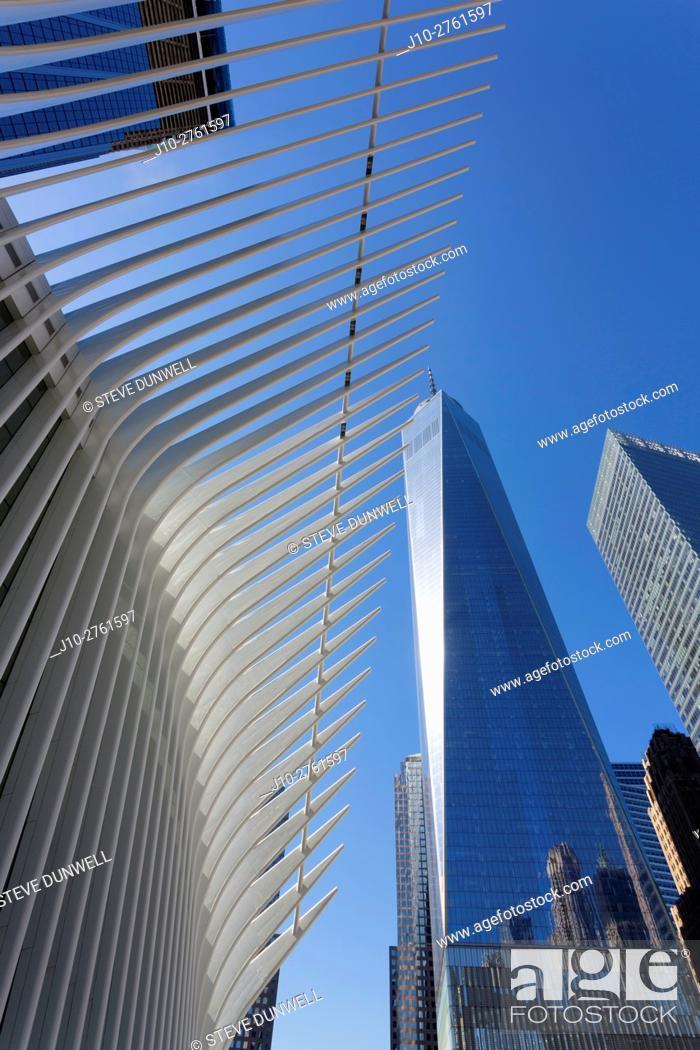 Stock Photo: Oculus (architect = Calatrava), World Trade Center, New York City, USA.